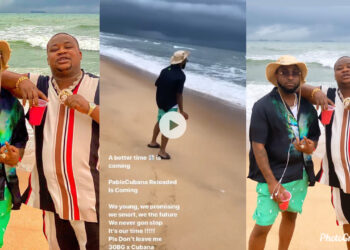 Davido returns to social media with stunning new photos of himself at a private beach