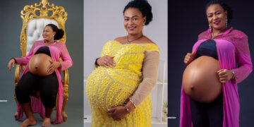 Woman gives birth to triplets after 14years of marriage (Photos)