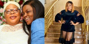 Funke Akindele celebrates mom on her birthday