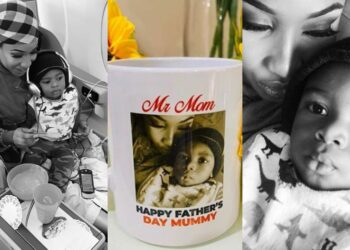 Being your dad has been my greatest honour -Tonto Dikeh tells son, Andre on Fathers' Day (Photos)