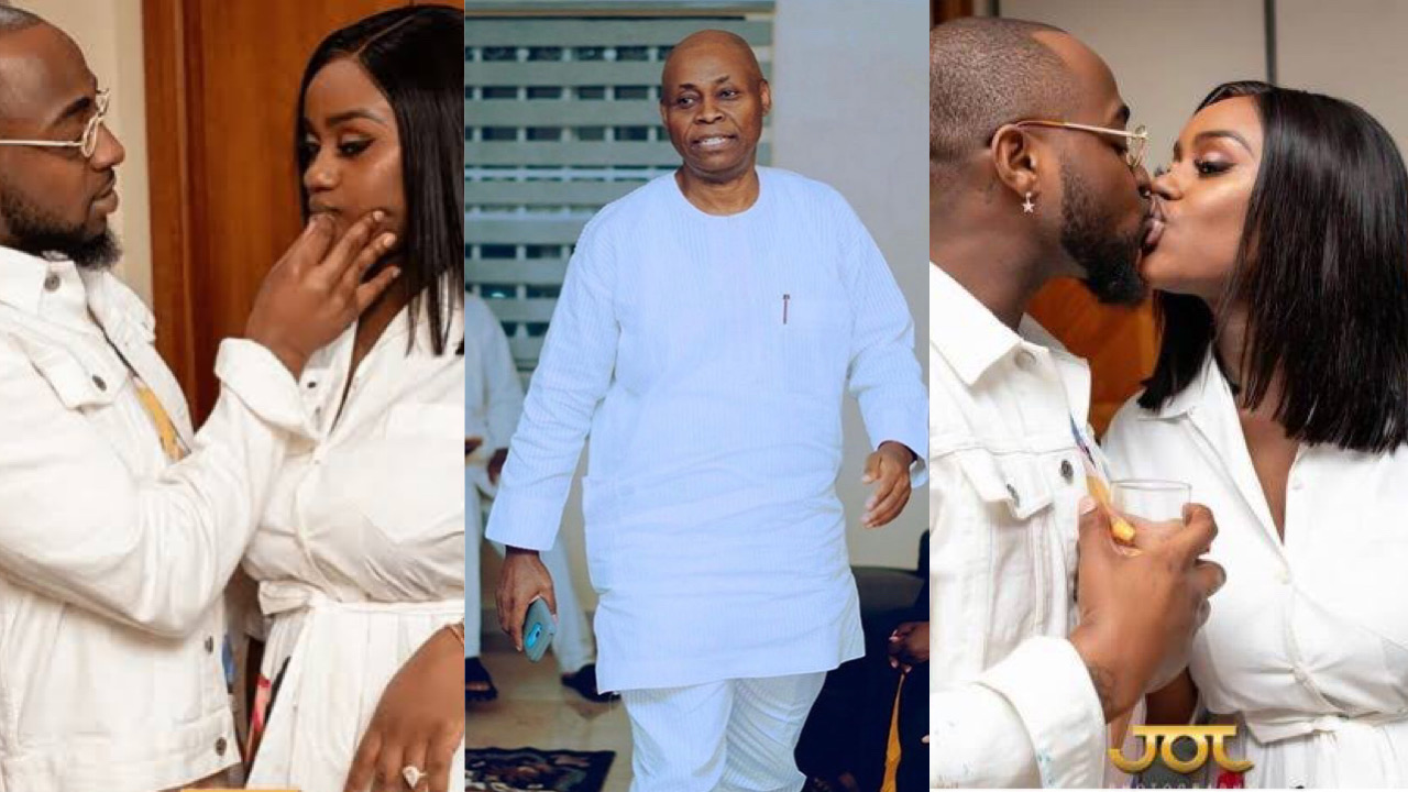 Davido's father reportedly calls his son to order, settles fight between him and Chioma