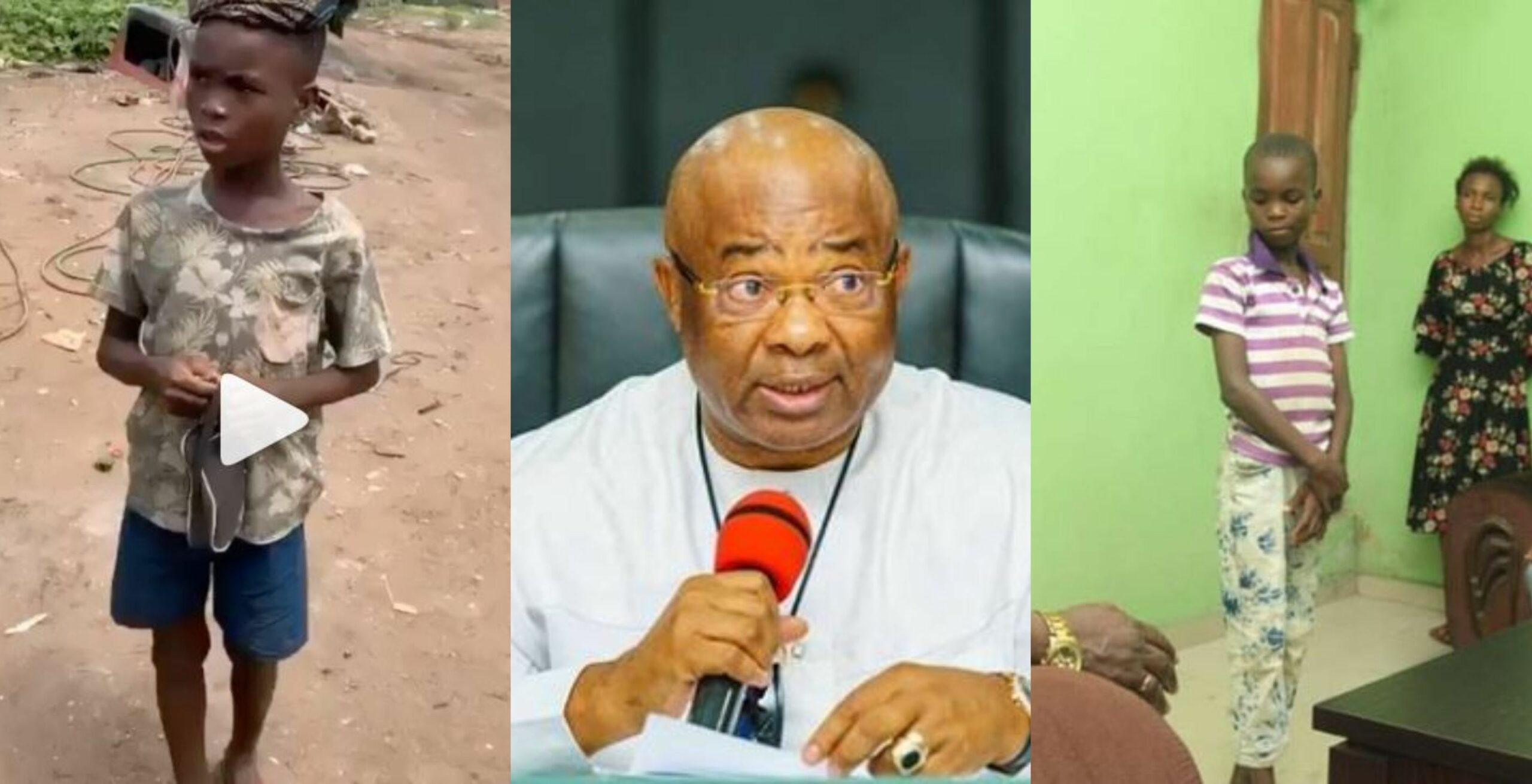 Imo State Governor, Hope Uzodinma adopts 9-year-old coconut seller singing in viral video