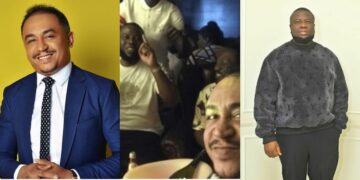 Nigerians dig up old video of Daddy Freeze feasting in Hushpuppi's mansion, blast him for being an hypocrite