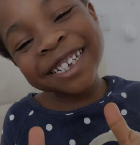 Davido's daughter, Imade Adeleke celebrates her first broken tooth -Receives N100k cash, flowers and more (Photos)