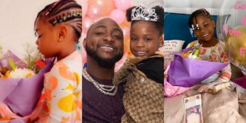 Happy broken tooth Imade -Nigerians react to Davido's daughter celebration after losing first tooth (Hilarious comments)