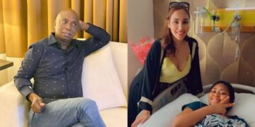 Prince Ned Nwoko commends the love between his wives, shares lovely photo of them