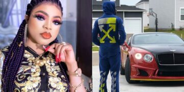 Bobrisky's boyfriend buys him a brand new car for keeping their relationship secret (Video)