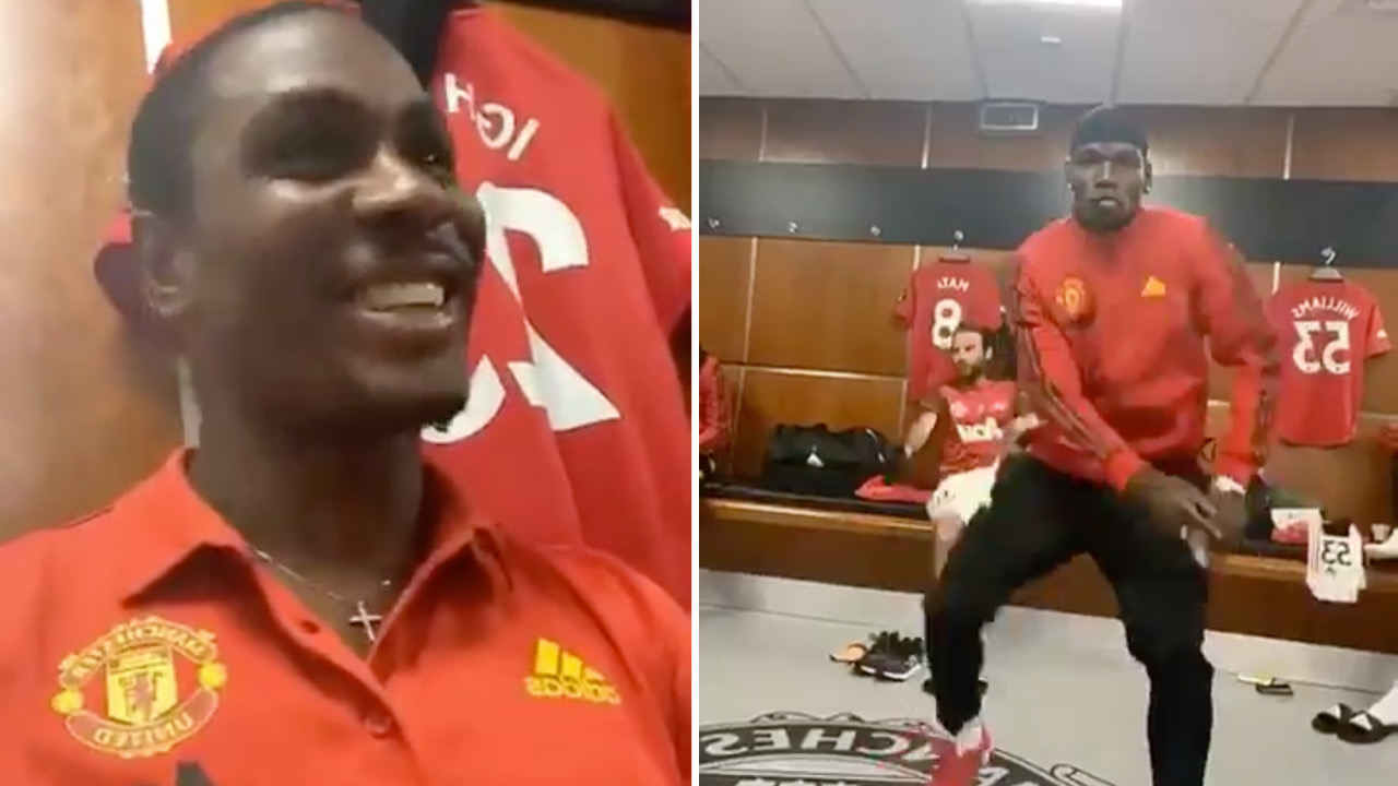 Manchester United stars, Odion Ighalo and Paul Pogba dances to Wizkid song, Soco.