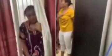 Married woman caught cheating with her lesbian partner (Video)