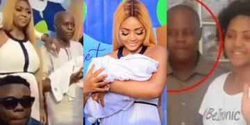 Regina Daniels father finally blesses her marriage, attends his grandson's naming ceremony (Video)