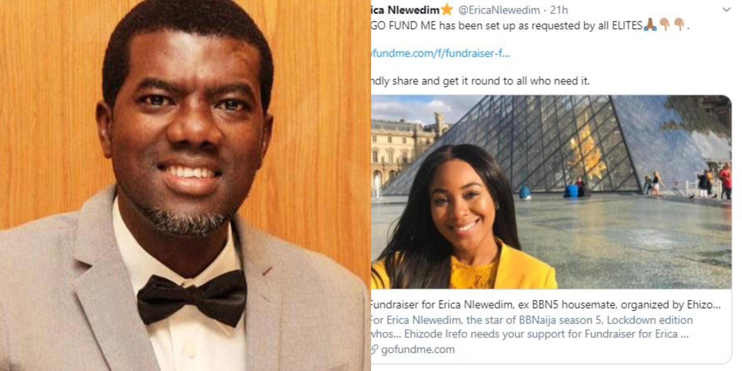 """Nigerians Deserve Buhari"" - Reno Omokri Drags Nigerians For Raising $15,000 In 5 Hours For BBNaija's Erica"