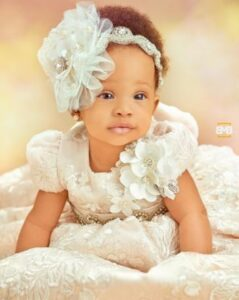 Teddy A and BamBam finally unveil the face of their daughter, Zendaya in adorable family portraits