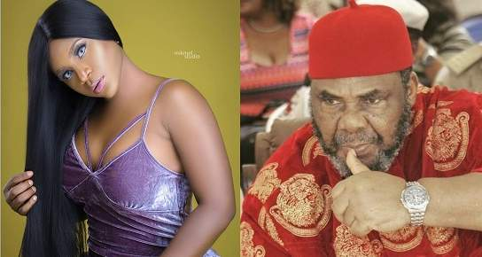 Actress Destiny Etiko Declares Her Love For Pete Edochie With A Kiss (Photos)