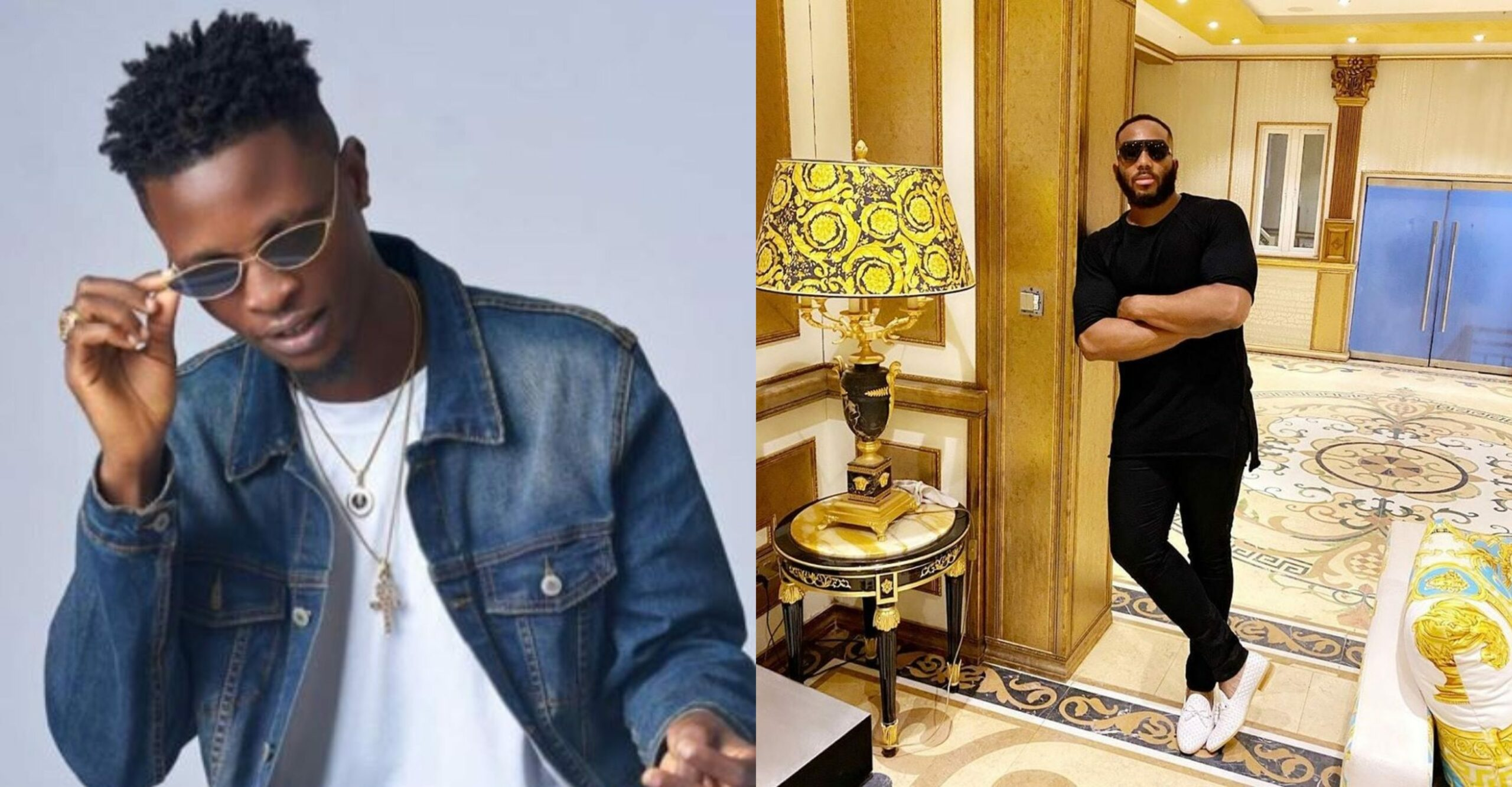 Kiddwaya promises Laycon, Vee & TrickyTee a song and music video in his father's Versace Palazo mansion (Video)