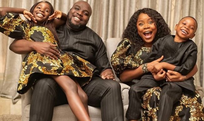 """I usually don't do this"" Omawumi says as she shares rare photos of her husband and their kids"