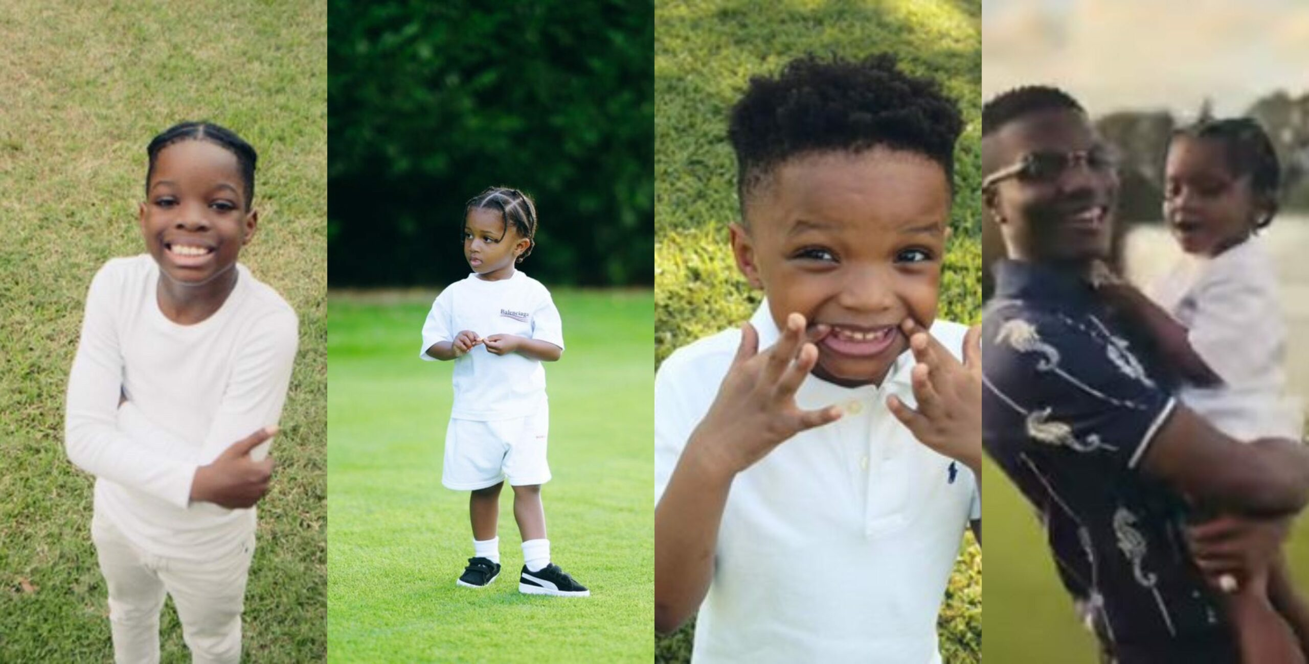 Wizkid buries deadbeat allegations as he shares lovely photos of his three kids, dedicates new song to them (Video)