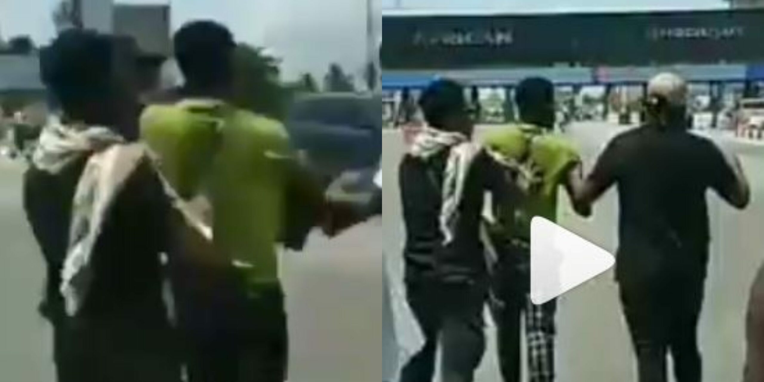 Protesters give man beating of his life for molesting a woman during #EndSARS protest in Lekki (Video)