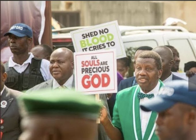 Our daughters will not be able to prophesy and young men will not see visions if we don't keep them alive -Adeboye supports EndSars protests
