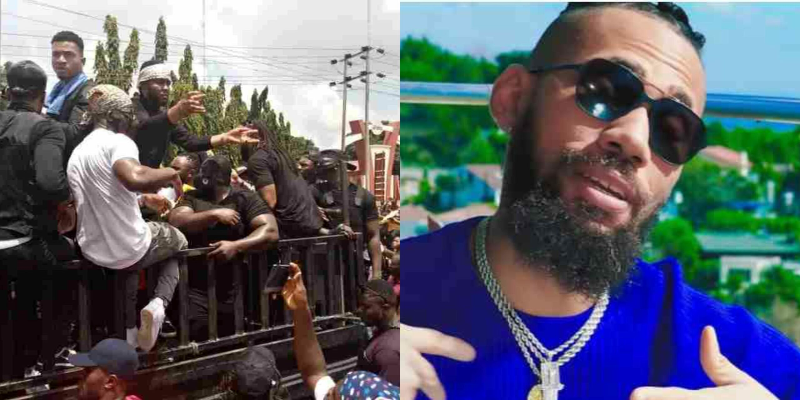 JUST IN: Police Open Fire As Protesters Led By Phyno, Flavour, March To  Dreaded SARS Station In Anambra | Theinfong