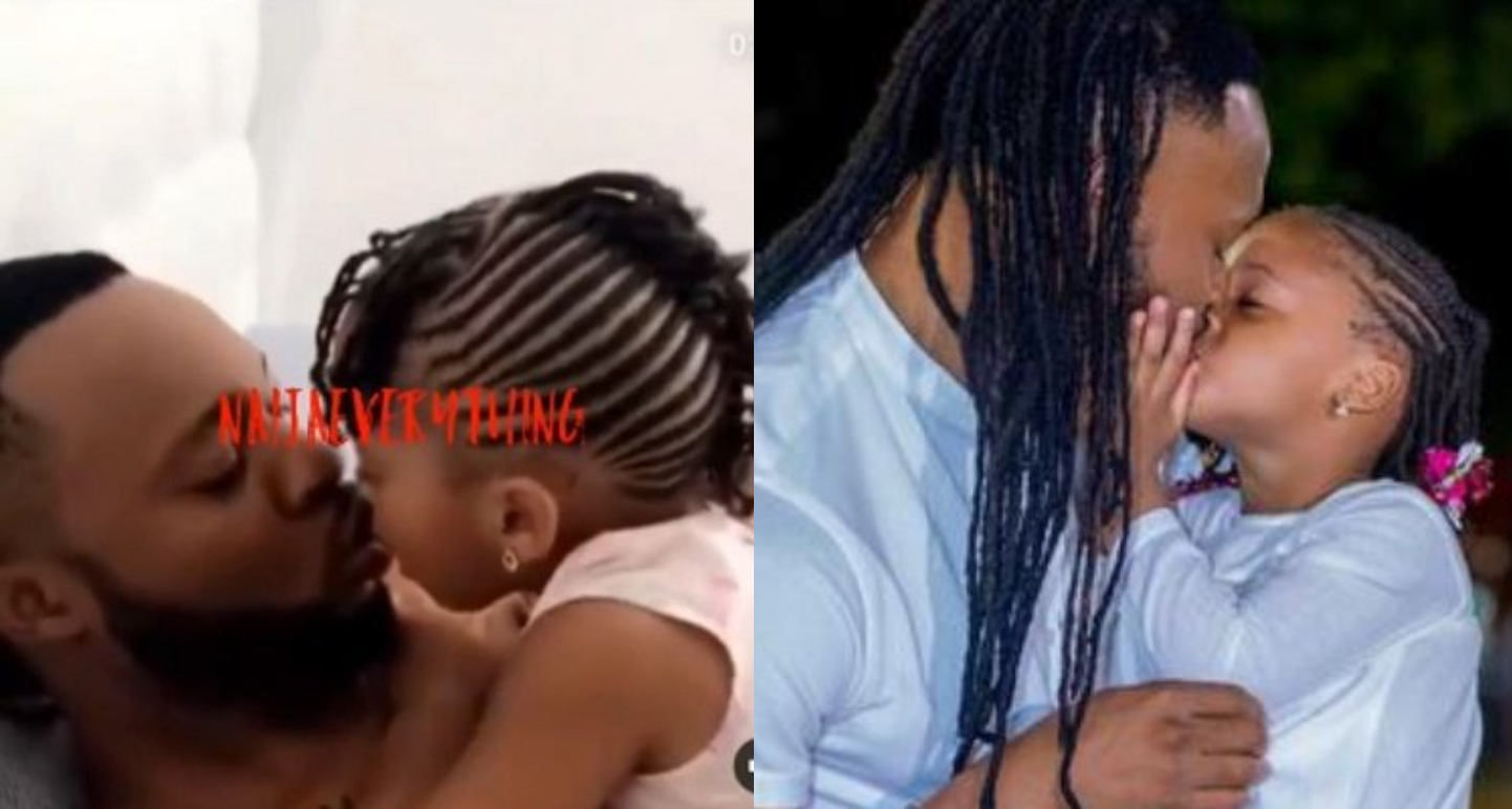 Singer, Flavour N'abania Under Fire After Video Of Him Kissing His Daughter Goes Viral