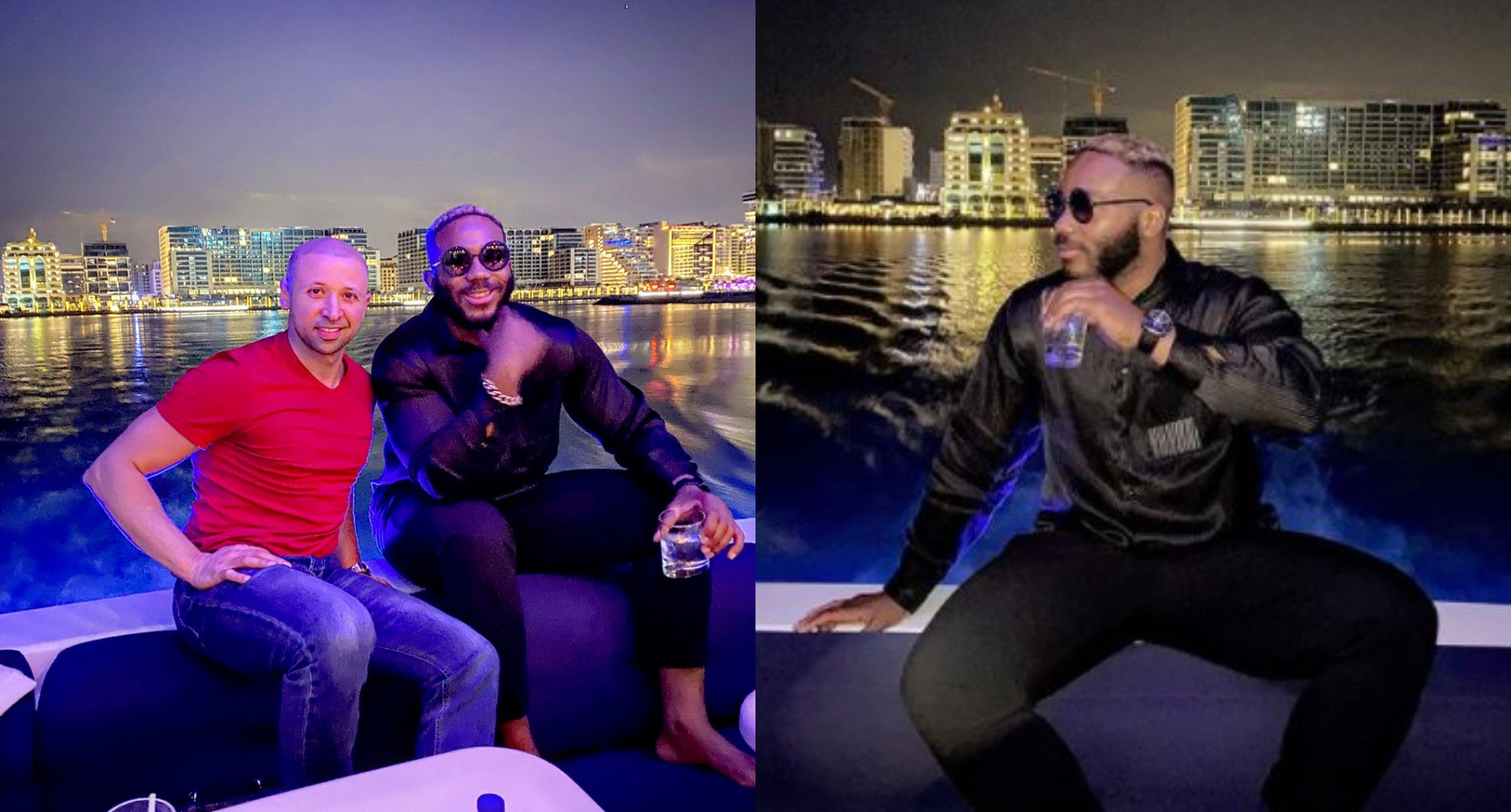 I partied with the king of Dubai's son last night - Kiddwaya brags on social media (Photos)