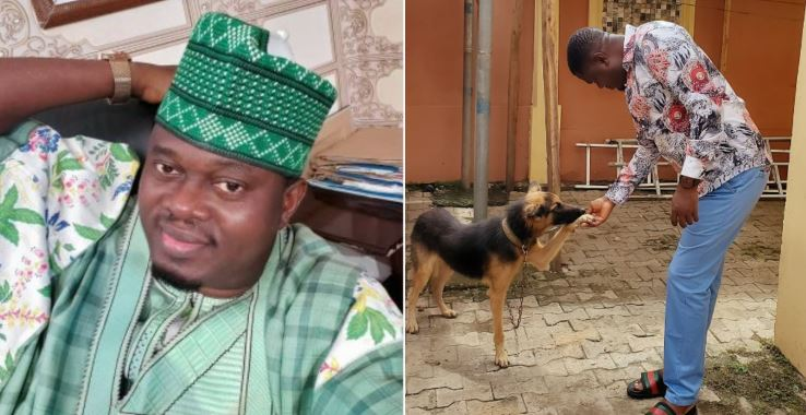"""""""He took your death sir"""" – Fans react to Muyiwa Ademola losing his dog after he was hospitalised (Photo)"""