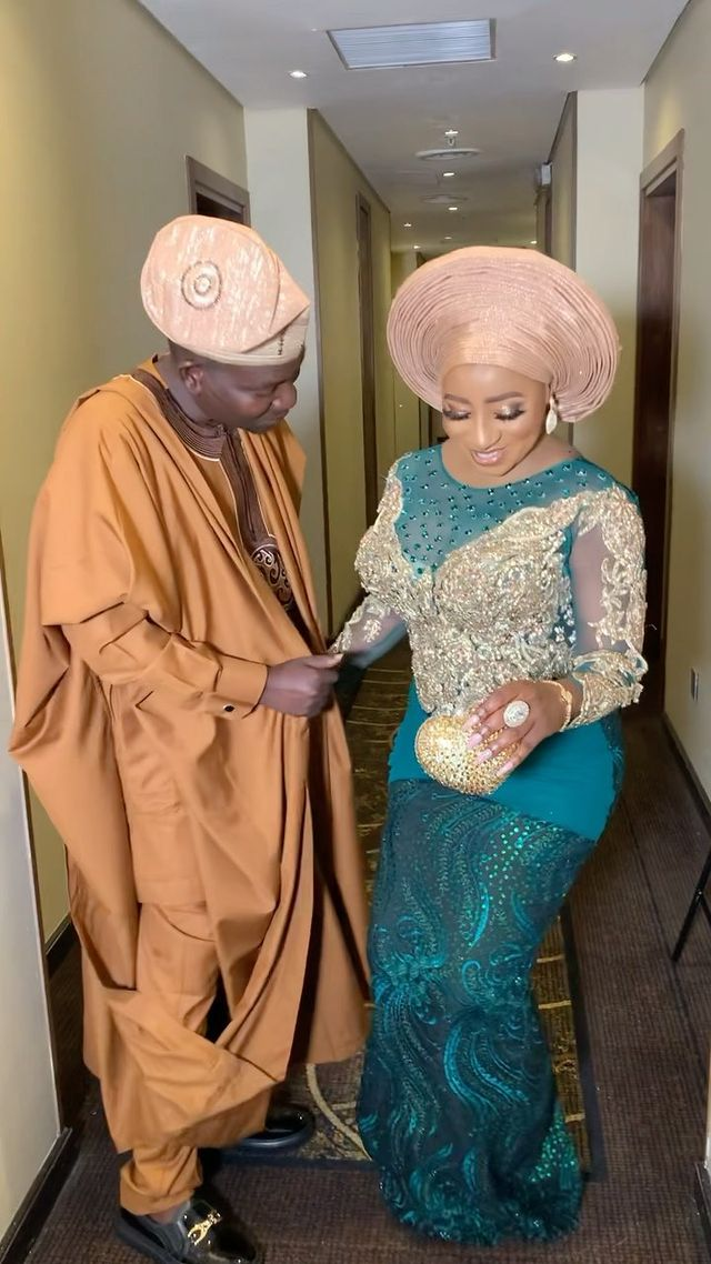 Mide Martins and husband, Afeez Owo give out daughter's hand in marriage