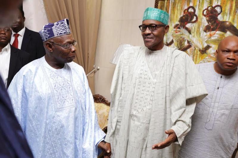 Obasanjo and President-elect Buhari meet in Abuja (See Photos)