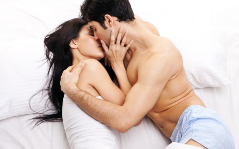 Young Couple In Loving Embrace