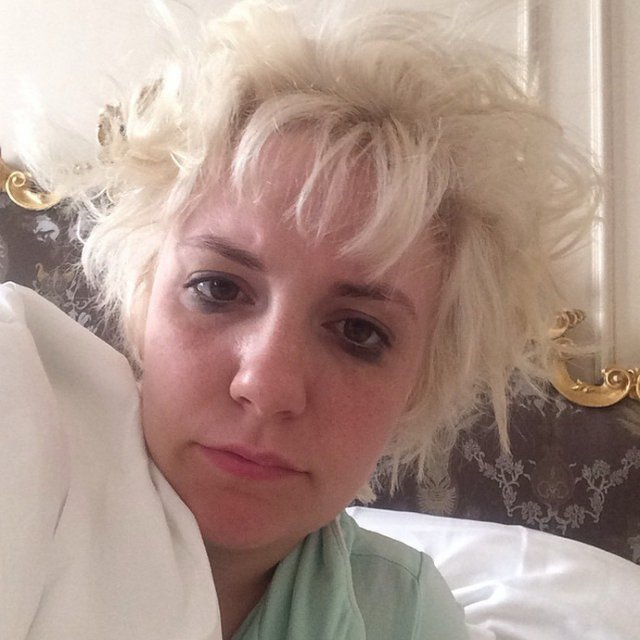 Lena-Dunham-morning-face-on-instagram