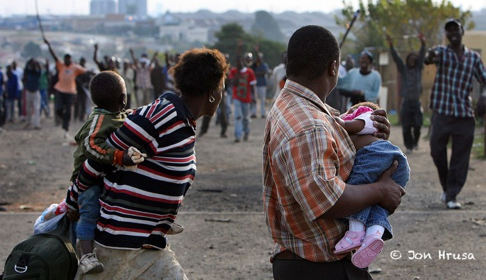 Xenophobia In SA: Sad photos Showing brutal killing of Mozambique man causes stir online