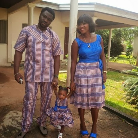 Mercy-Johnson-and-Hubby-with-child-460x460