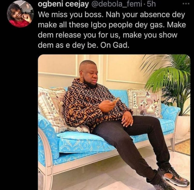 Lady Calls For The Release Of Hushpuppi As Obi Cubana Steals The Spotlight