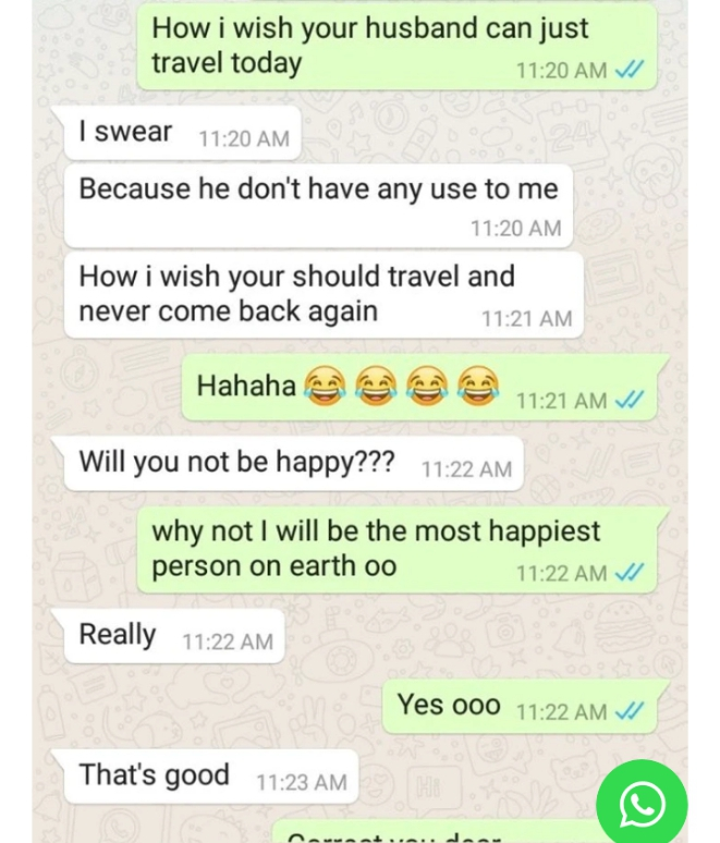 Man Leaks Chat With Married Woman Who Cheating On Her Husband