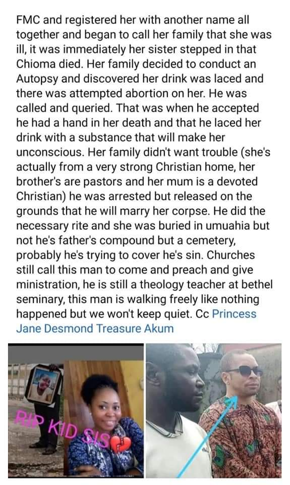 Pastor Disgraced And Forced To Marry Corpse Of Fiancée Who Died After He Aborted Her Pregnancy